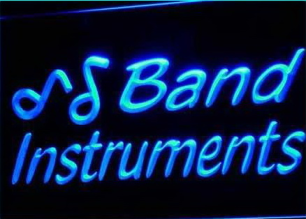 Band Instruments Music Rock n Roll Light Sign