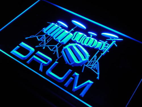 Band Room Drum Rock n Roll Music Neon Light Sign