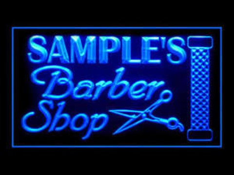 Barber Shop Custom Welcome Open LED Neon Sign