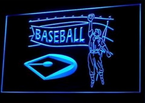 Baseball Home Run LED Neon Sign