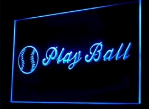 Baseball Play Ball Vintage LED Neon Sign