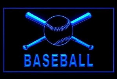 Baseball Tournament League LED Neon Sign