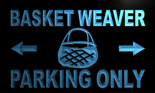 Basket Weaver Parking Only Neon Light Sign