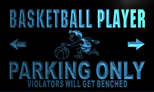 Basketball Player Parking Only Neon Light Sign