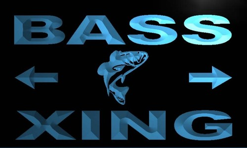 Bass Xing Neon Light Sign
