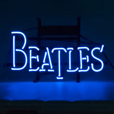 Beatles Blue Music Neon Sign