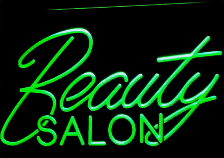 Beauty Salon Logo LED Sign