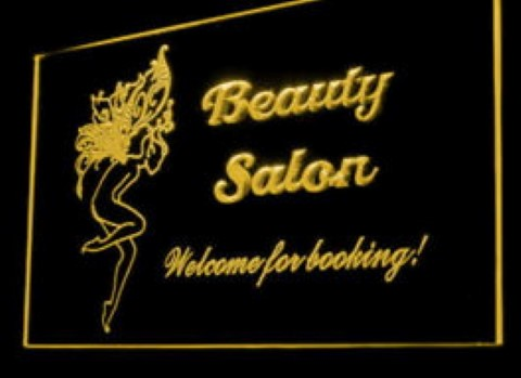 Beauty Salon Welcome For Booking LED Neon Sign