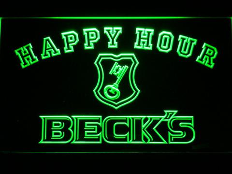 Beck's Happy Hour LED Neon Sign