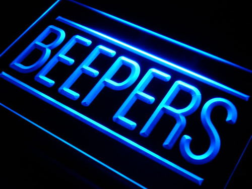 Beepers (Pagers) Services Neon Light Sign