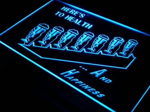 Beer Health Happiness Neon Sign