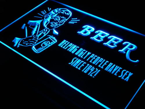 Helping Ugly People Have Sex Bar Neon Light Sign