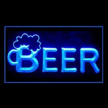 Beer On Tap Here LED Neon Sign