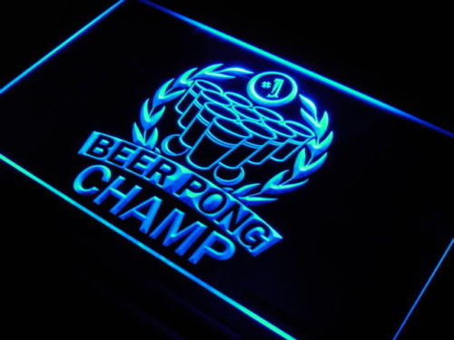 Beer Pong Champ No. 1 Bar Neon Light Sign