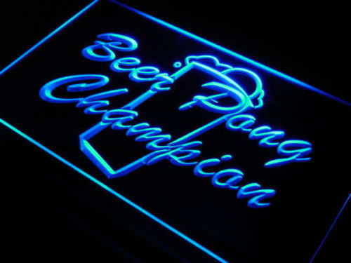 Beer Pong Champion Bar Pub Club Neon Light Sign
