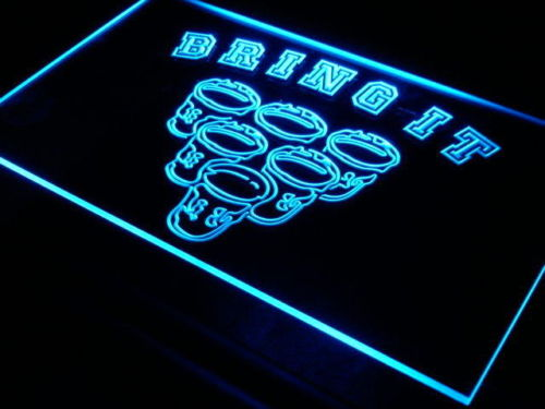 Beer Pong Game Bring It Rule Neon Light Sign