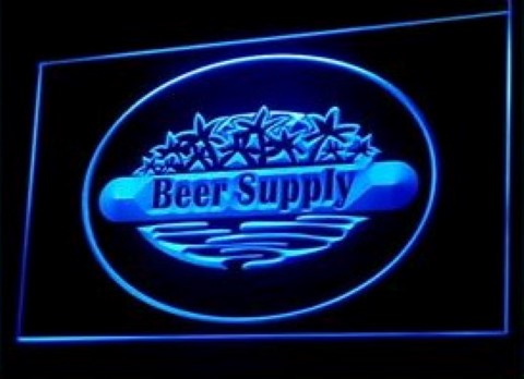Beer Supply Bar Pub LED Neon Sign