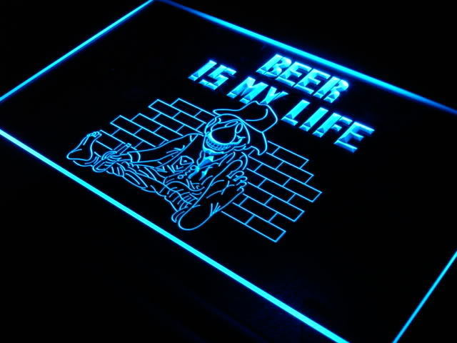 Beer is my Life Bar Pub Club Neon Light Sign
