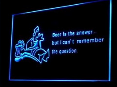 Beer is the Answer LED Neon Sign