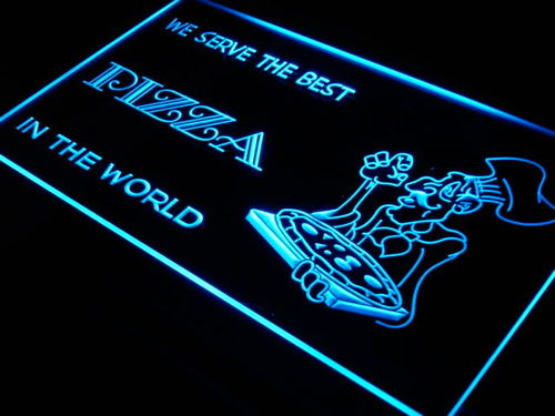 Best Pizza Cafe Bar Beer Display Neon Light Sign