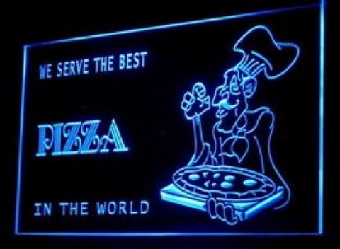 Best Pizza Cafe LED Neon Sign