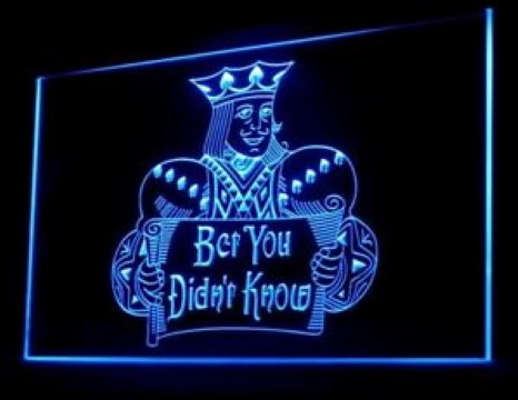 Bet You Didn't Know Blackjack LED Neon Sign