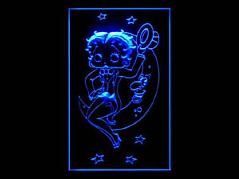Betty Boop Moon LED Neon Sign
