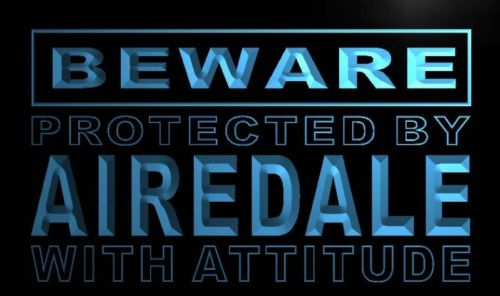 Beware Airedale Neon Light Sign