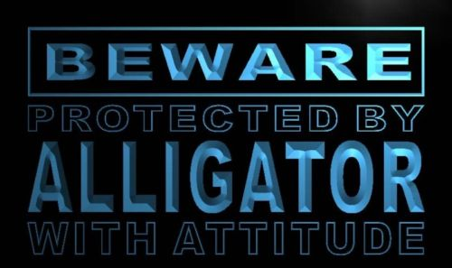 Beware Alligator Neon Light Sign