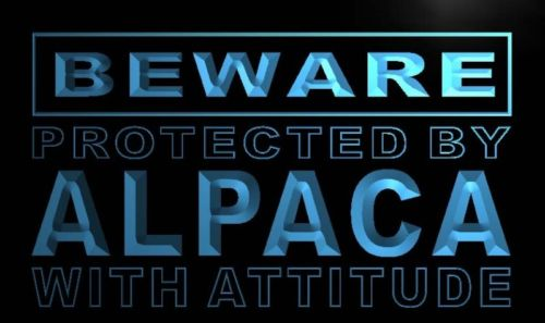 Beware Alpaca Neon Light Sign