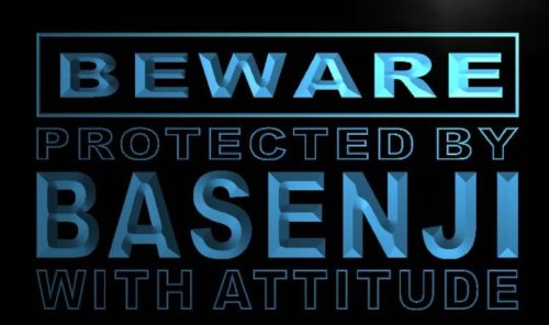 Beware Basenji Neon Light Sign