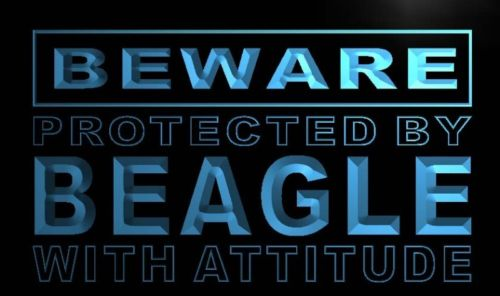 Beware Beagle Neon Light Sign