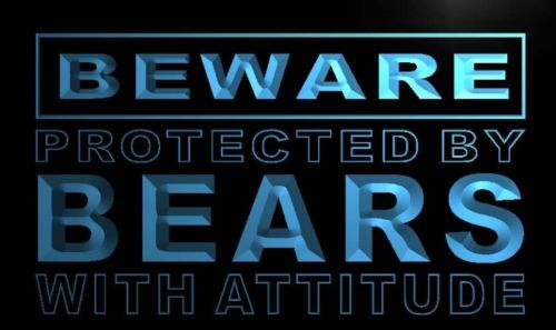 Beware Bears Neon Light Sign