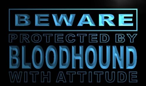 Beware Bloodhound Neon Light Sign