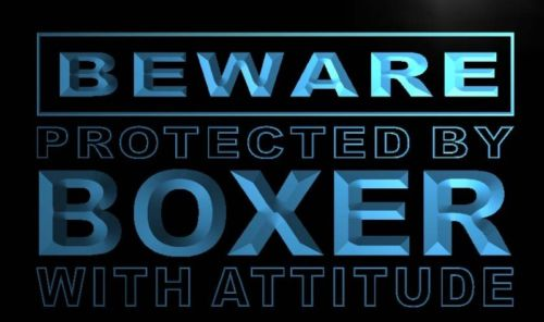 Beware Boxer Neon Light Sign