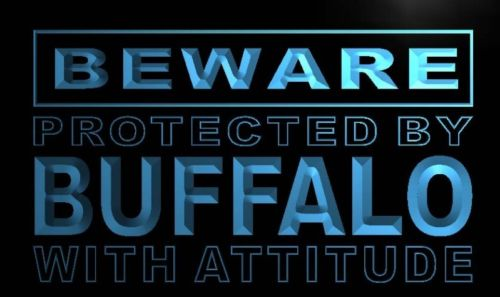Beware Buffalo Neon Light Sign