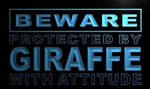 Beware Giraffe Neon Light Sign