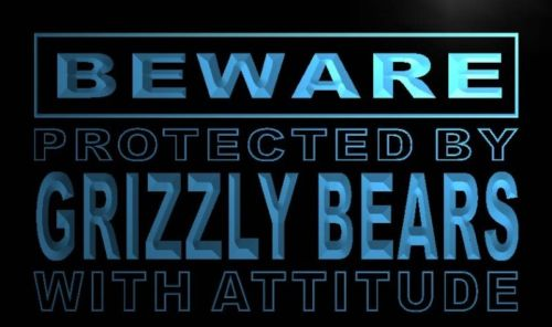Beware Grizzly Bears Neon Light Sign