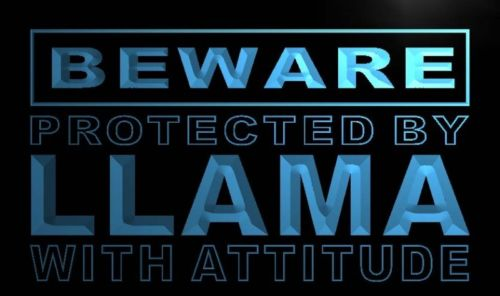 Beware Llama Neon Light Sign