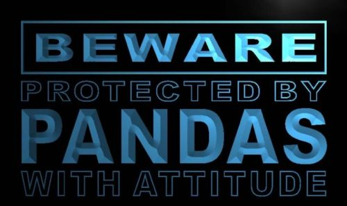 Beware Pandas Neon Light Sign