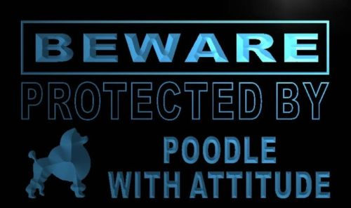 Beware Poodle Neon Light Sign