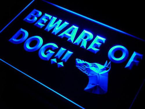 Beware of Dog Display Neon Light Sign