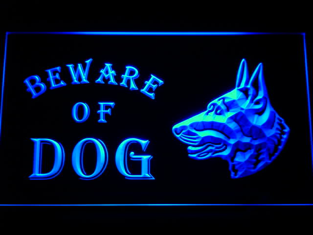 Beware of Dog Neon Light Sign