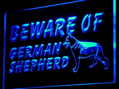 Beware of German Shepherd Dog