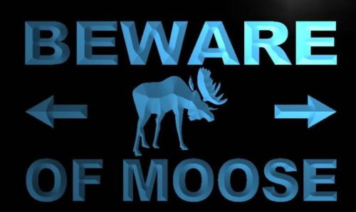 Beware of Moose Neon Light Sign