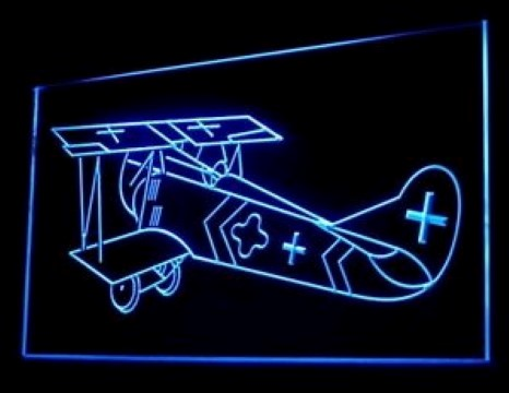 Bi Plane Aircraft LED Neon Sign