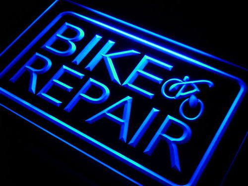 Bike and Repair Services Neon Light Sign