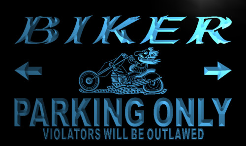 Biker Parking Only Neon Light Sign