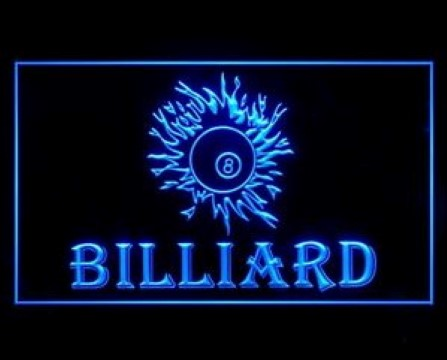 Billiard Technique Standard Ball LED Neon Sign