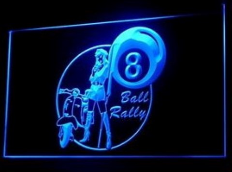 Billiards 8 Ball Rally LED Neon Sign